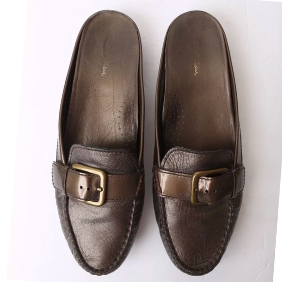 e4cb5f7f97a Cole Haan Shoes - Cole Haan Bronze Backless Loafer Mules AA Narrow